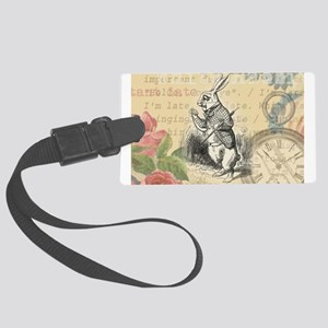 White Rabbit from Alice in Wonderland Luggage Tag