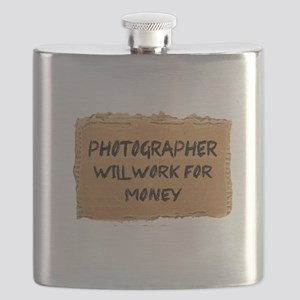 Photographer Will Work For Money Flask