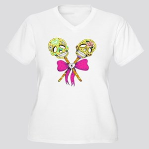 Day of the Dead R Women's Plus Size V-Neck T-Shirt