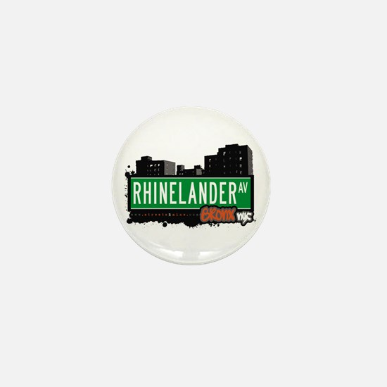 Rhinelander Av, Bronx, NYC Mini Button