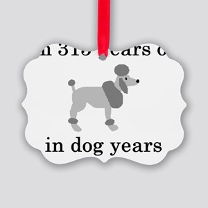 45 birthday dog years poodle Picture Ornament