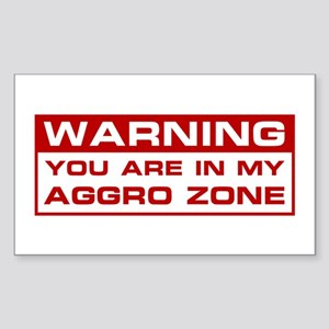 Aggro Zone Rectangle Sticker