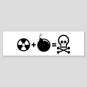 Nuclear Plus Bombs Bumper Sticker