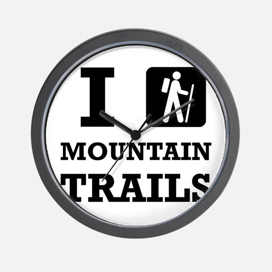Hike Mountain Trails Wall Clock