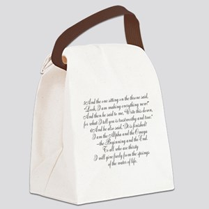 New Resolution Canvas Lunch Bag