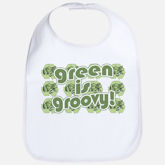 Green is Groovy frog Bib