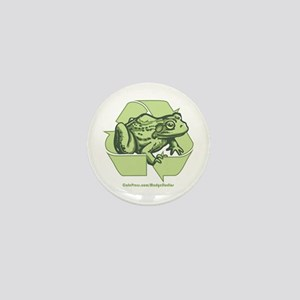 Green is Groovy frog Mini Button