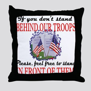 Behind Our Troops Throw Pillow