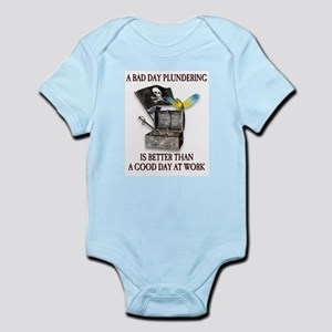 Pirate Plundering Ship Infant Bodysuit