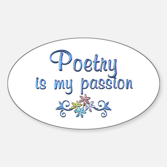 Poetry Passion Sticker (Oval)