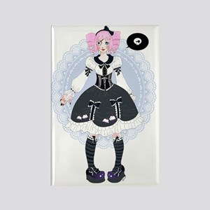 Cute Gothic Lolita - manga style Rectangle Magnet