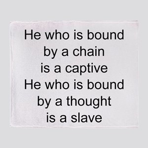 captive vs slave Throw Blanket