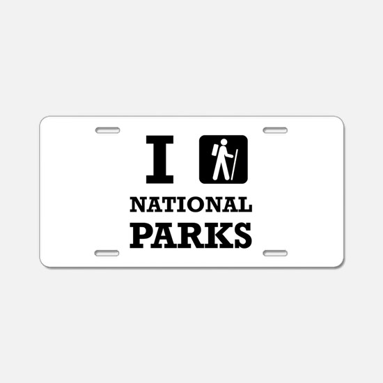 Hike National Parks Aluminum License Plate