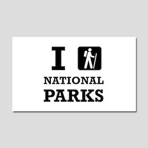 Hike National Parks Car Magnet 20 x 12