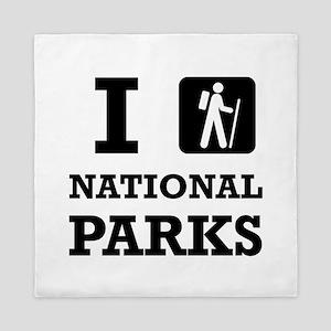 Hike National Parks Queen Duvet