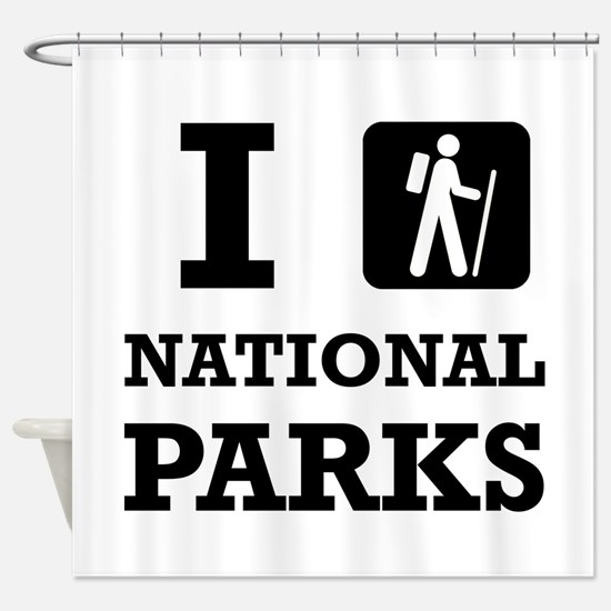Hike National Parks Shower Curtain