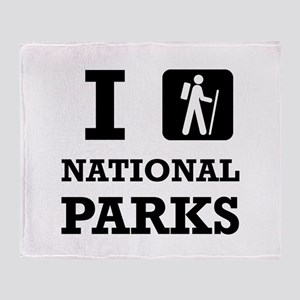 Hike National Parks Throw Blanket