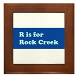 R is for Rock Creek Framed Tile