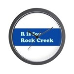 R is for Rock Creek Wall Clock