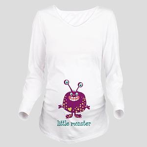 Little Monster Long Sleeve Maternity T-Shirt