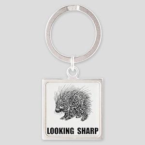 Sharp Porcupine Keychains