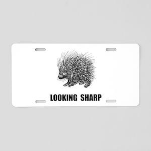 Sharp Porcupine Aluminum License Plate