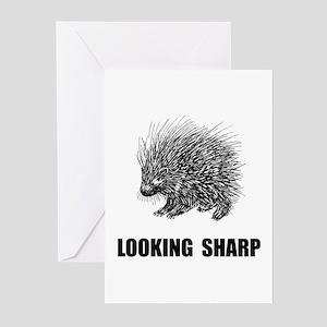 Sharp Porcupine Greeting Cards