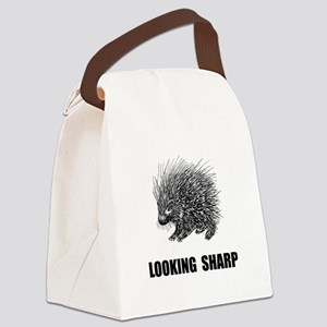 Sharp Porcupine Canvas Lunch Bag