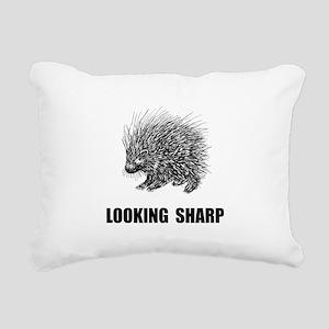 Sharp Porcupine Rectangular Canvas Pillow