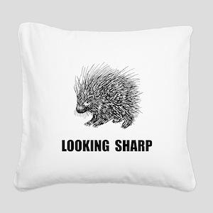 Sharp Porcupine Square Canvas Pillow