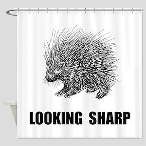 Sharp Porcupine Shower Curtain