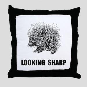 Sharp Porcupine Throw Pillow