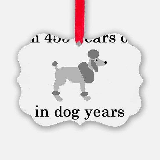 65 birthday dog years poodle Ornament