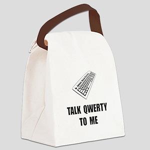Talk QWERTY Canvas Lunch Bag
