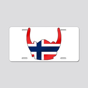 Norway Viking Helmet Aluminum License Plate