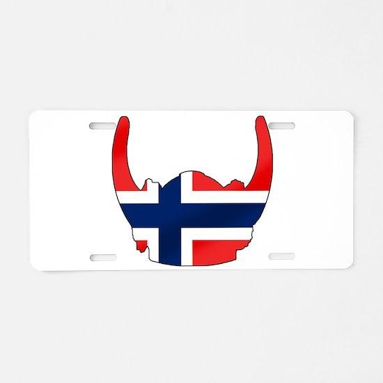 Norway Viking Helmet Aluminum License Plate