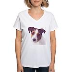Jack Russell Terrier Women's V-Neck T-Shirt