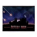 Defeat Iran Throw Blanket