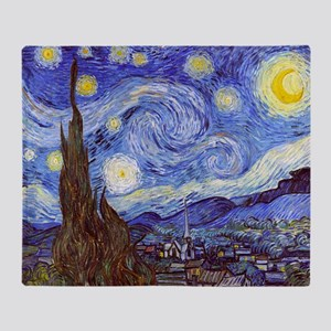 Starry Night Vincent Van Gogh Throw Blanket