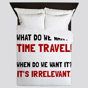 Time Travel Queen Duvet