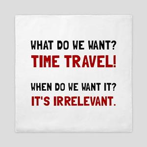 Time Travel Queen Duvet