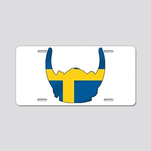 Swedish Viking Helmet Aluminum License Plate