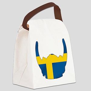 Swedish Viking Helmet Canvas Lunch Bag