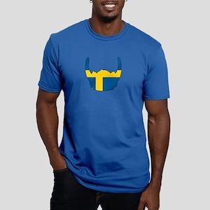 Swedish Viking Helmet Men's Fitted T-Shirt (dark)