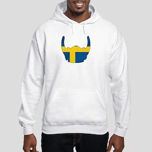 Swedish Viking Helmet Hooded Sweatshirt