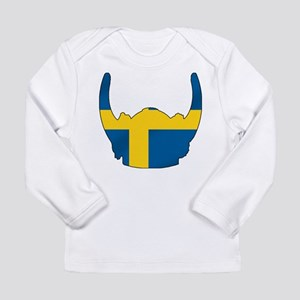 Swedish Viking Helmet Long Sleeve Infant T-Shirt