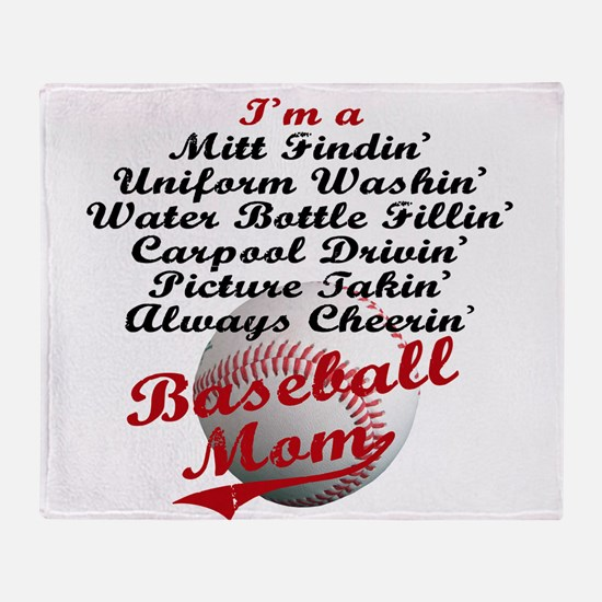 Baseball_Mom Throw Blanket