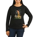 Fairies & Boxer Women's Long Sleeve Dark T-Shirt