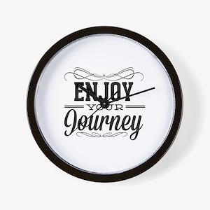 Enjoy Your Journey Wall Clock