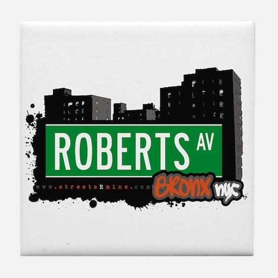 Roberts Av, Bronx, NYC Tile Coaster